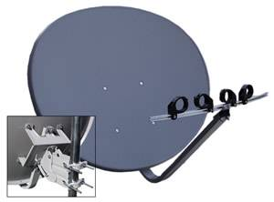 "3 LNB NETWORK 91 HD FTA 1000 500 24/"" ELLIPTICAL OVAL DISH 110//119//129 SATELLITE"